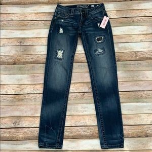 NWT Girl's Miss Me Distressed Skinny Jeans